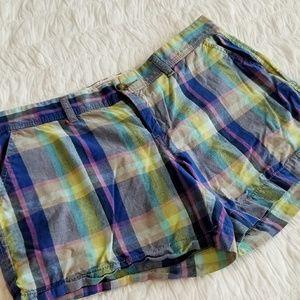 Old Navy Plaid Chino Shorts